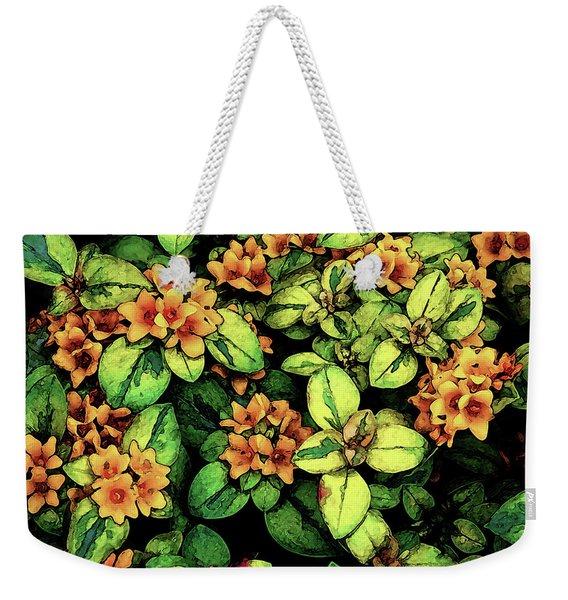 Digital Painting Quilted Garden Flowers 2563 Dp_2 Weekender Tote Bag