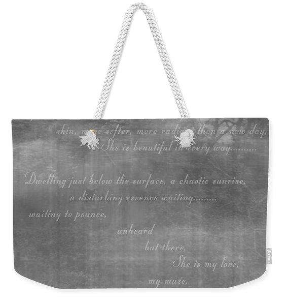 Digital Poem Weekender Tote Bag