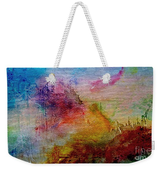 1a Abstract Expressionism Digital Painting Weekender Tote Bag