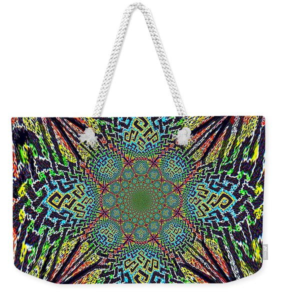 Dimensional Celtic Cross Weekender Tote Bag