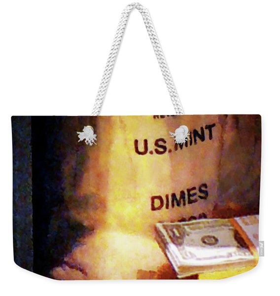 Dimes Dollars And Gold Weekender Tote Bag
