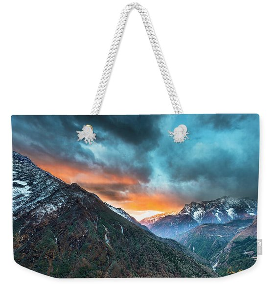 Dingboche Sunrise Weekender Tote Bag