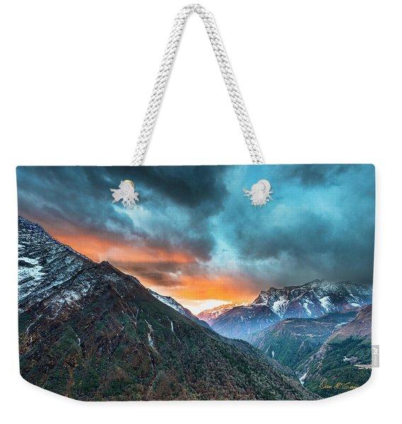 Dingboche Sunrise Weekender Tote Bag