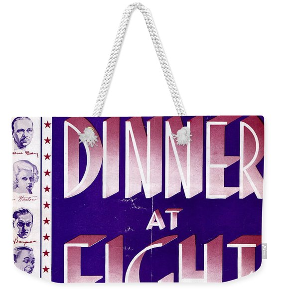 Dinner At Eight Weekender Tote Bag