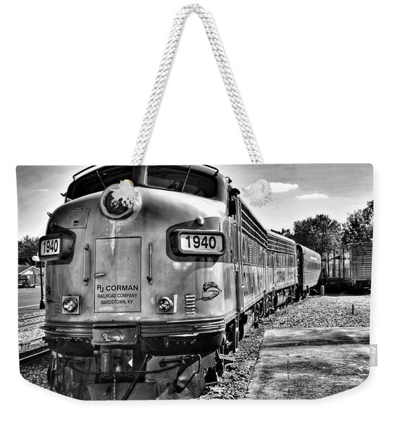 Dinner Train Weekender Tote Bag