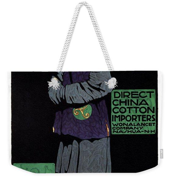 Direct China Cotton Importer - Wonalancet Company - Vintage Advertising Poster Weekender Tote Bag