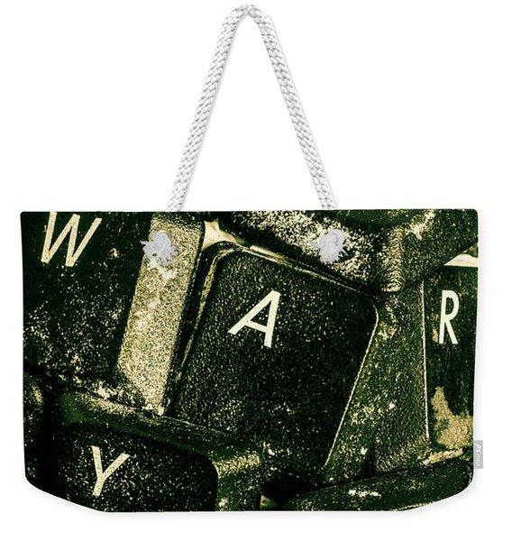 Disarming Of Weaponiised Words  Weekender Tote Bag