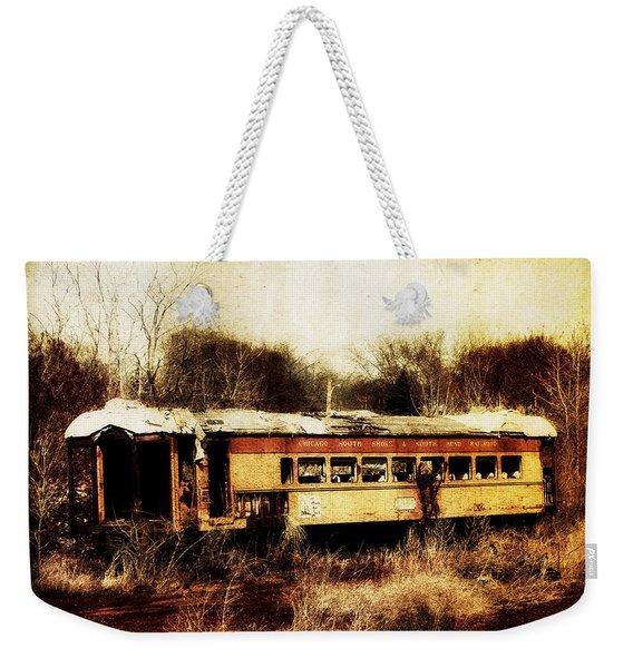 Discarded Train Weekender Tote Bag