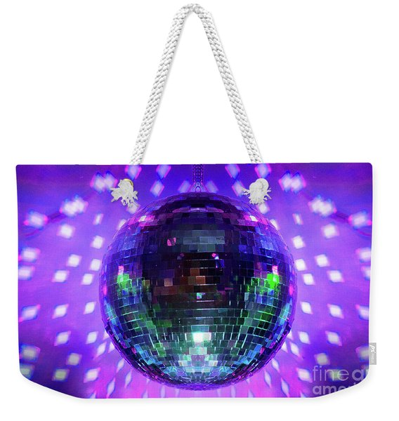 Disco Ball Purple Weekender Tote Bag