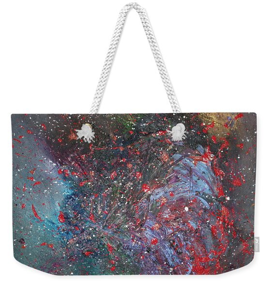 Weekender Tote Bag featuring the painting Discovery by Michael Lucarelli