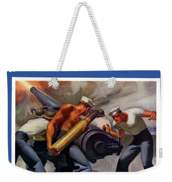 Dish It Out With The Navy Weekender Tote Bag