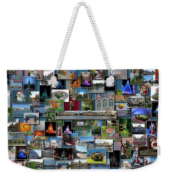Disney World Collage Rectangle Pm Weekender Tote Bag