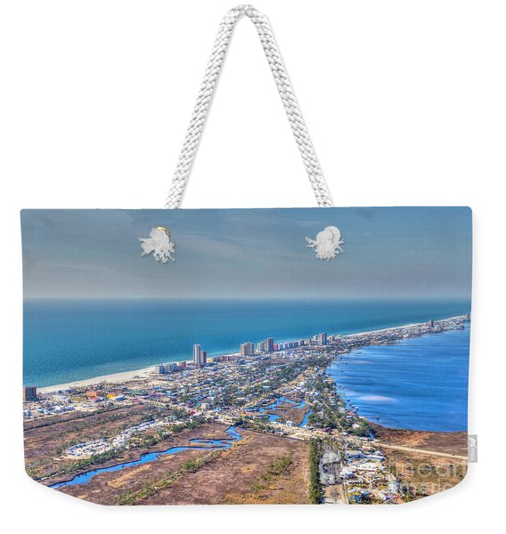 Distant Aerial View Of Gulf Shores Weekender Tote Bag