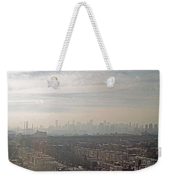Distant City Weekender Tote Bag