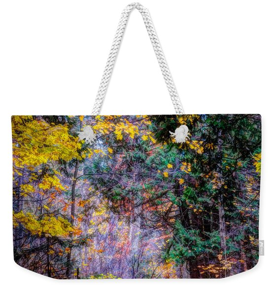 Distant Path Weekender Tote Bag