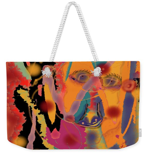 Distressed One Weekender Tote Bag