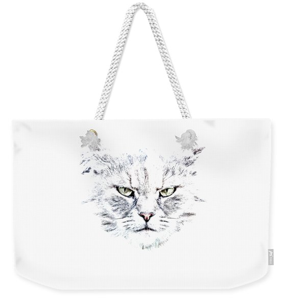 Disturbed Cat Weekender Tote Bag