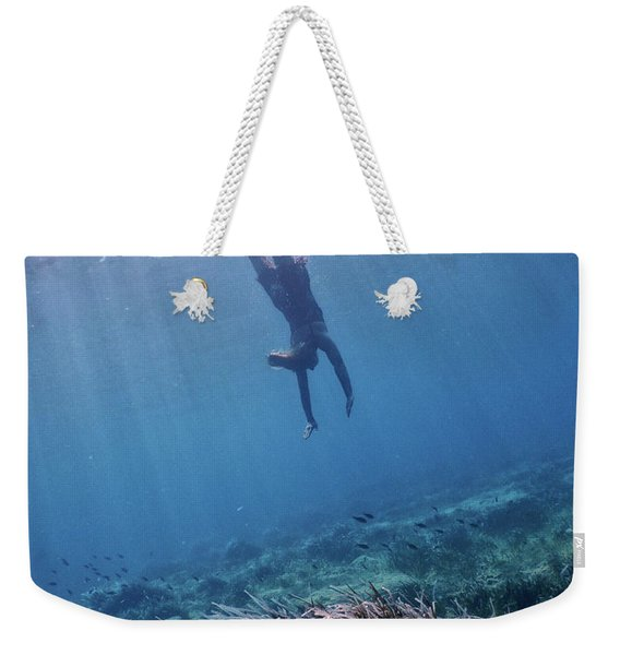 Dive Into The Unknown Weekender Tote Bag