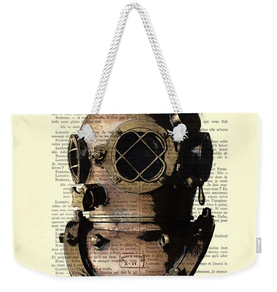 Diving Helmet Weekender Tote Bag