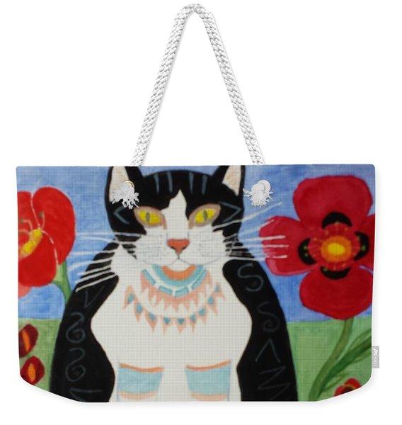 Diwali Tux Cat Weekender Tote Bag