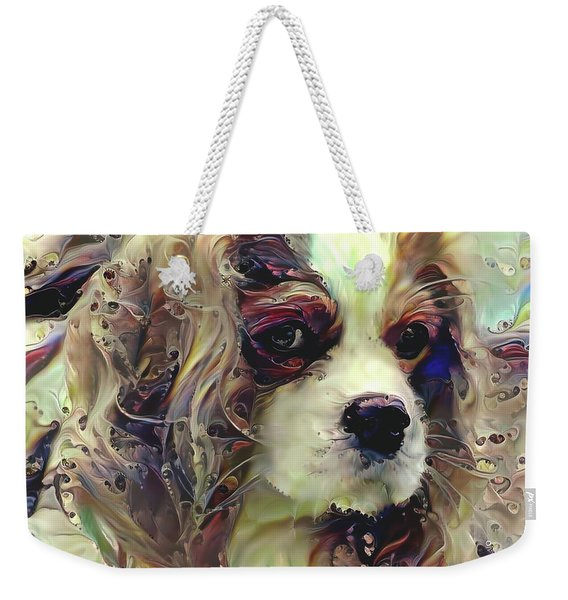 Dixie The King Charles Spaniel Weekender Tote Bag