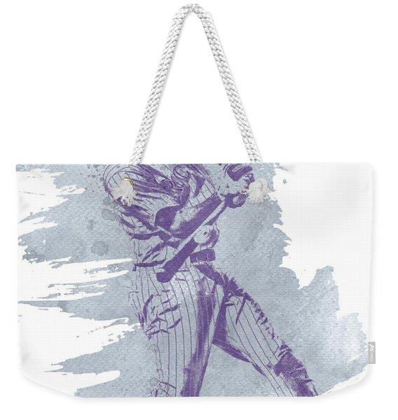 Dj Lemahieu Colorado Rockies Water Color Art 1 Weekender Tote Bag