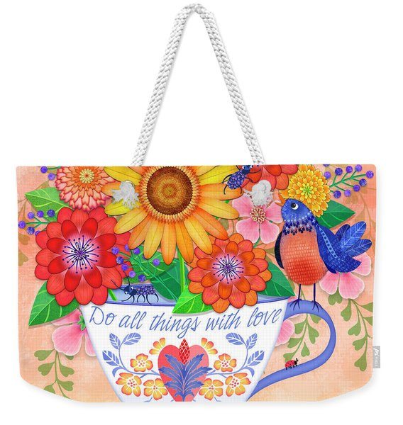 Do All Things With Love Weekender Tote Bag