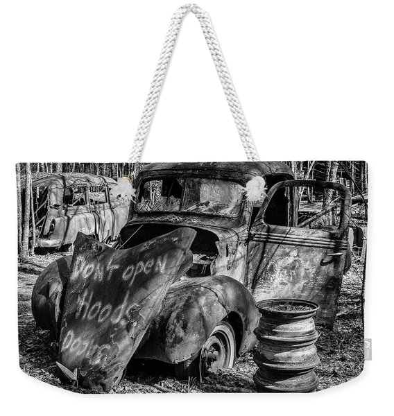 Do Not Open Hood Weekender Tote Bag