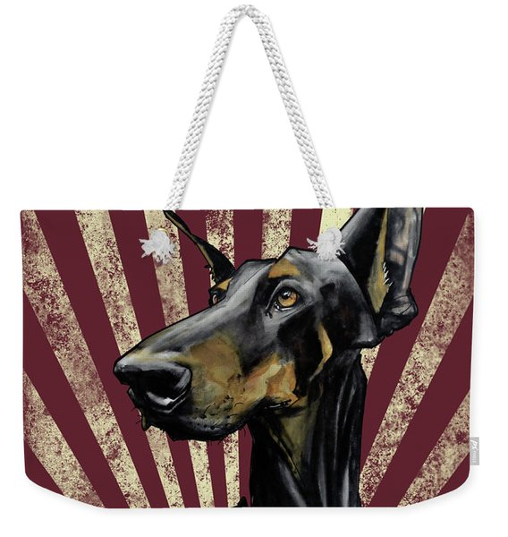 Doberman Revolution Weekender Tote Bag
