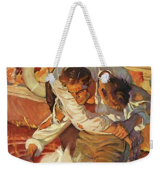 Doc Savage The Black Spot Weekender Tote Bag