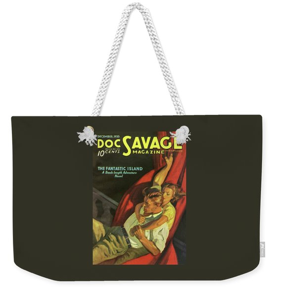 Doc Savage The Fantastic Island Weekender Tote Bag