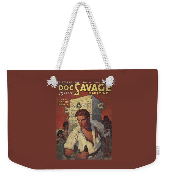 Doc Savage The Man Of Bronze Weekender Tote Bag