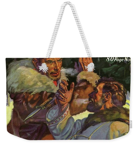 Doc Savage The Mystery On The Snow Weekender Tote Bag