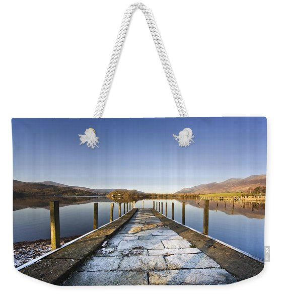 Dock In A Lake, Cumbria, England Weekender Tote Bag