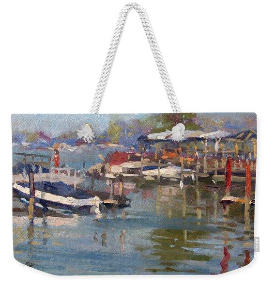 Dock In North Tonawanda Weekender Tote Bag