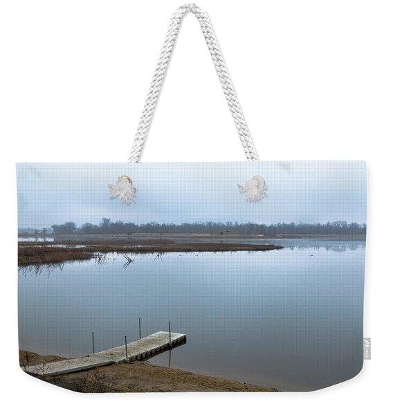 Dock On A Serene Lake Weekender Tote Bag