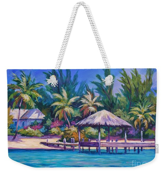 Dock With Thatched Cabana Weekender Tote Bag