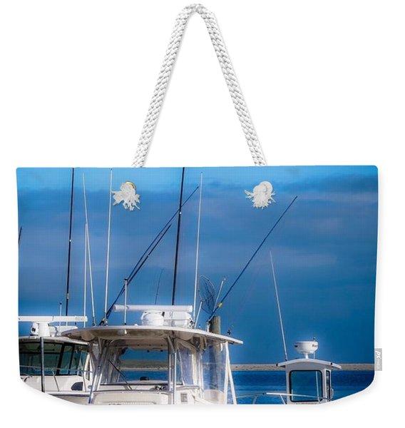 Docked And Quiet Weekender Tote Bag