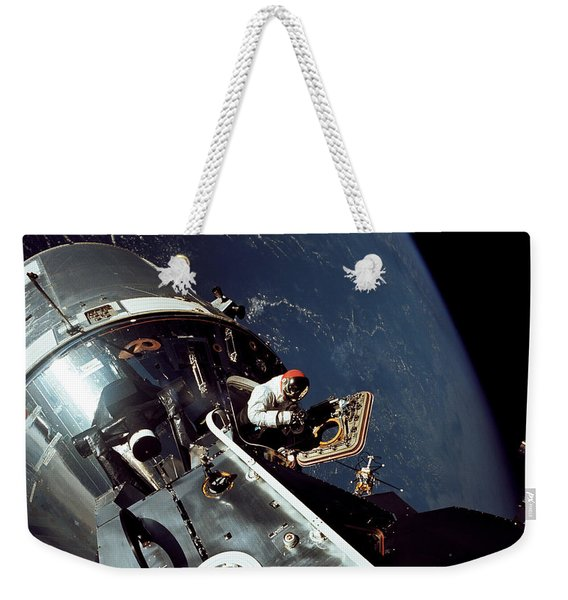 Docked Apollo 9 Command And Service Weekender Tote Bag