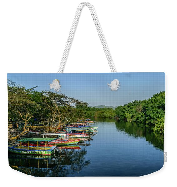 Boats By The River Weekender Tote Bag