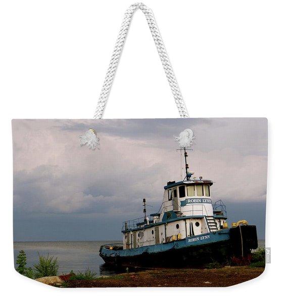 Docked On The Shore Weekender Tote Bag