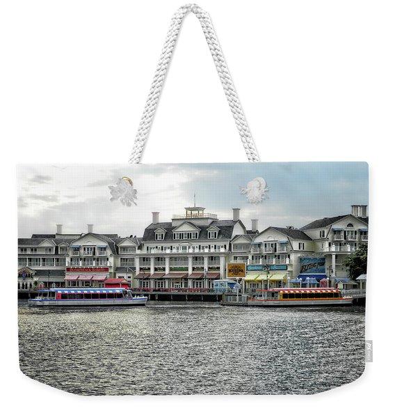 Docking At The Boardwalk Walt Disney World Mp Weekender Tote Bag