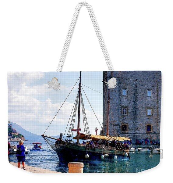 Docking In Dubrovnik Harbour Weekender Tote Bag