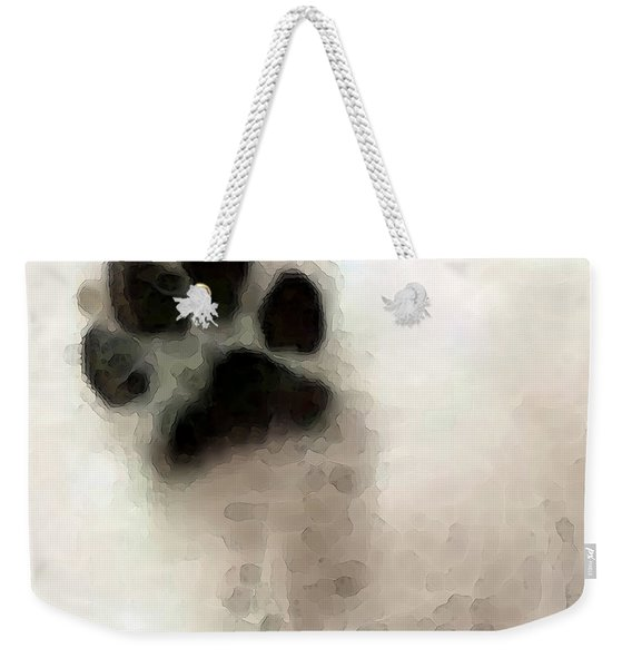 Dog Art - I Paw You Weekender Tote Bag