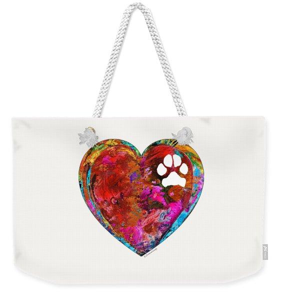 Dog Art - Puppy Love 2 - Sharon Cummings Weekender Tote Bag