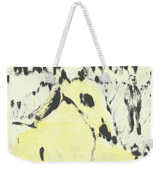 Dog At The Beach - Black Ivory 1 Weekender Tote Bag
