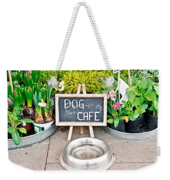Dog Cafe Weekender Tote Bag