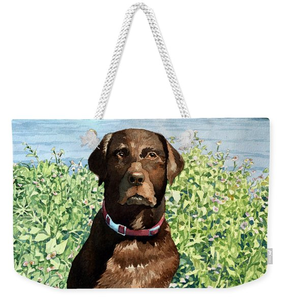 Dog Portrait #1 Weekender Tote Bag