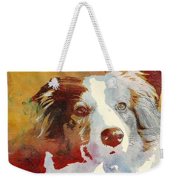Dog Portrait Weekender Tote Bag