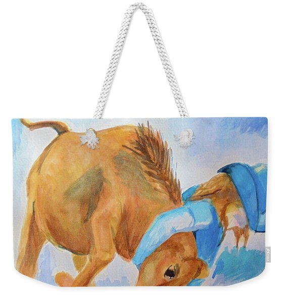 Dogging Weekender Tote Bag